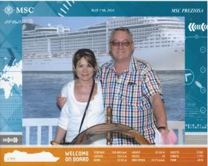 2014-05-17 Cruisebillede af kaptajn Knud-Erik og styrmand Lindis 2